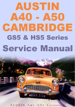 Austin A40 & A50 Workshop Repair Manual