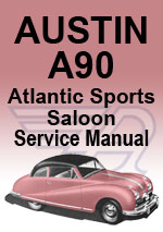 Austin A90 Atlantic Sports Saloon Service Workshop Manual Download PDF